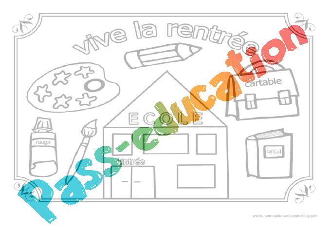 Vive La Rentrée Coloriage Jeux De La Rentrée Maternelle