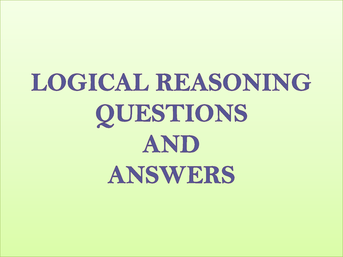 Logical Reasoning Questions And Answers |authorSTREAM