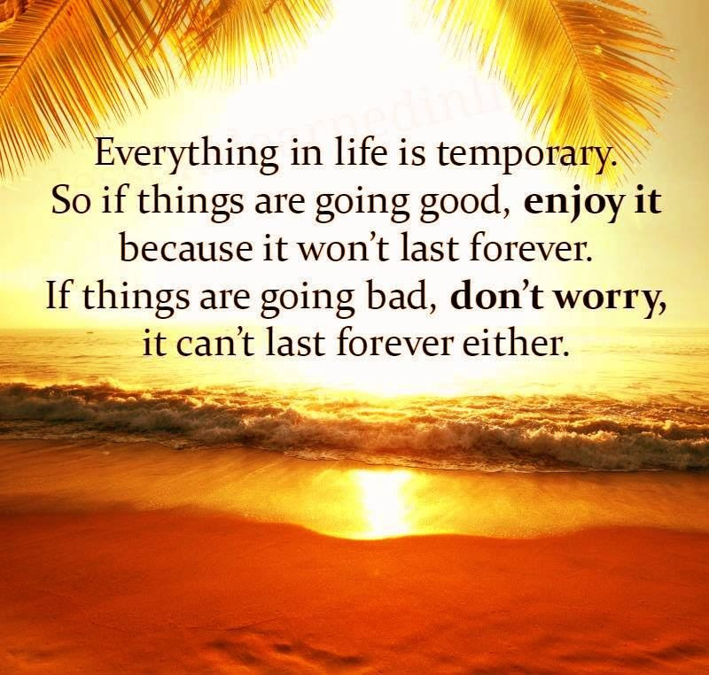 Everything In Life Is Temporary So If Things Are Good Enjoy Them