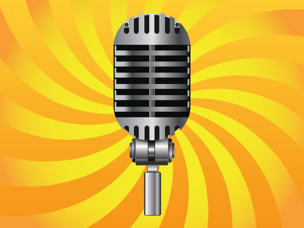 Classic Microphone Vector Art & Graphics | freevector.com