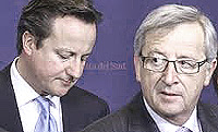 Cameron contro Juncker
