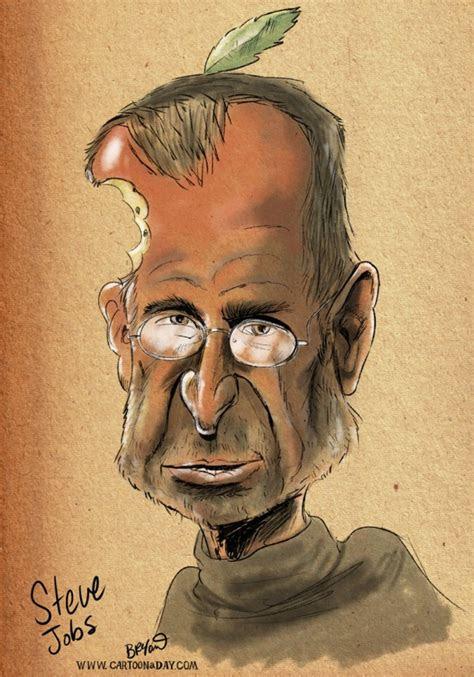 steve jobs head  apple quits steve jobs caricature