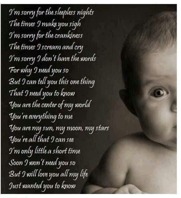 I Love My Baby Girl Poems Traffic Club