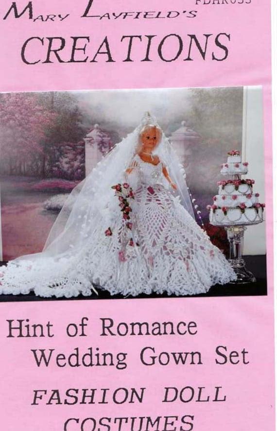Crochet Barbie Doll Wedding Dress Mary Layfield 39s Creation Pattern Booklet