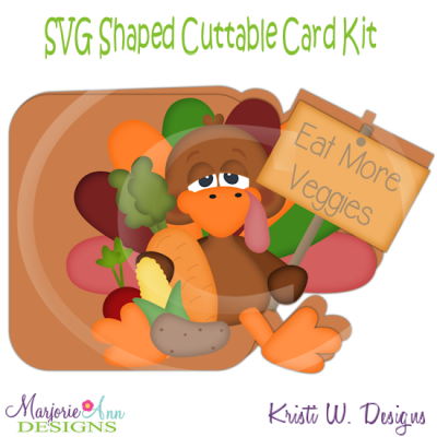 Eat More Veggies~Shaped SVG/MTC Card Kit/Cutting File
