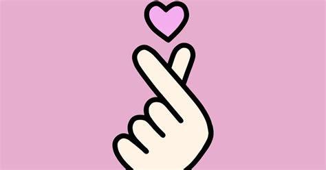 gestur tangan korea  diartikan love ternyata mirip dg