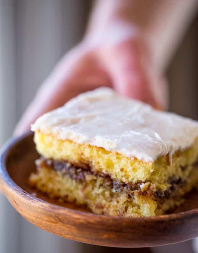 Honey Bun Cake (No Cake Mix!) - Dinner, then Dessert