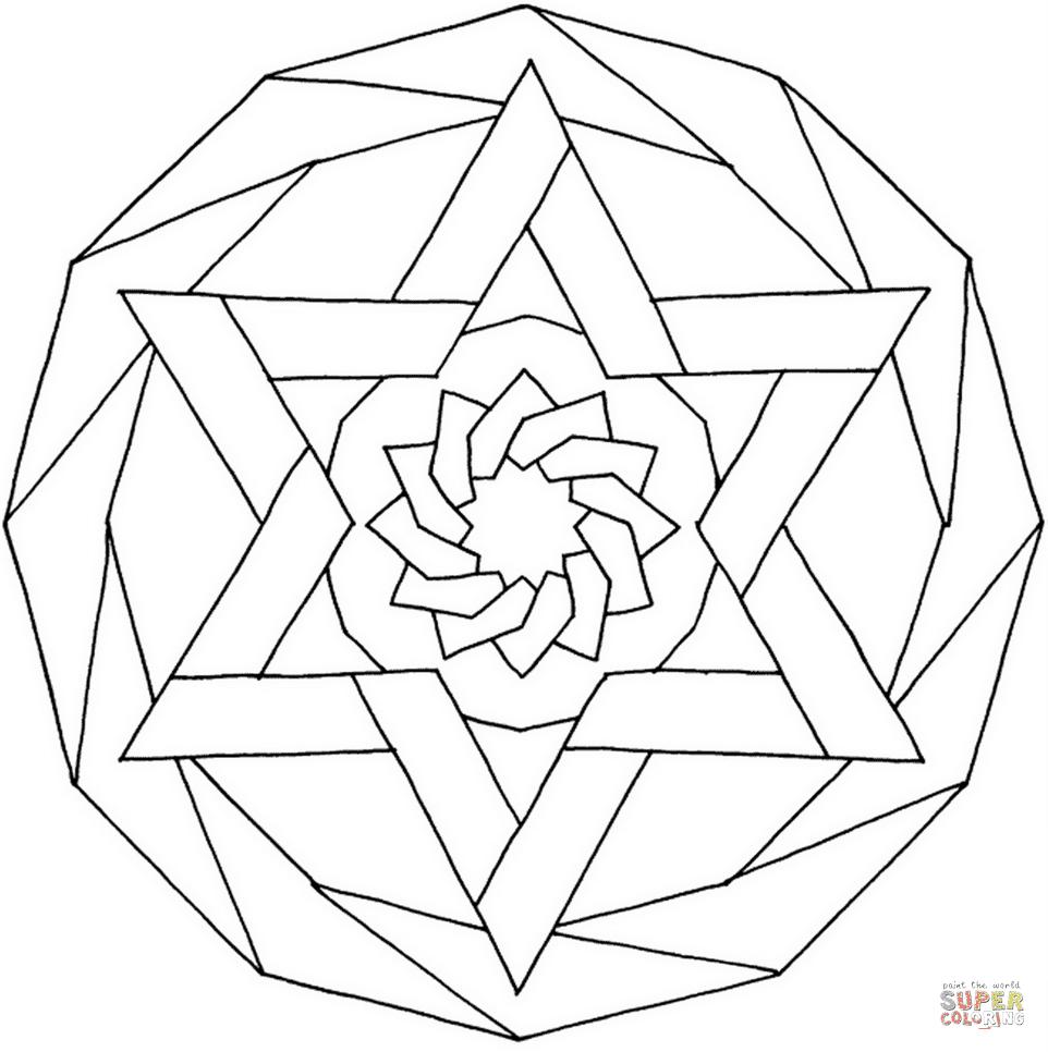 Dibujos De Mandalas Geométricas Para Colorear Páginas Para