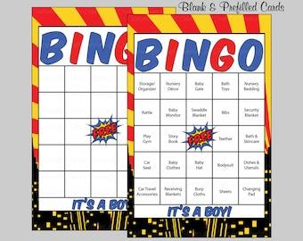 superhero bingo – Etsy