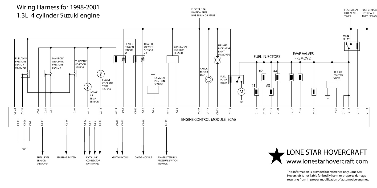 97 Geo Prizm Fuse Box Diagram