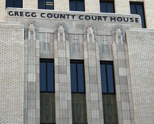 gregg county courthouse facade detail