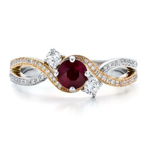 Custom Ruby and Diamond Engagement Ring   Dressin' it Up