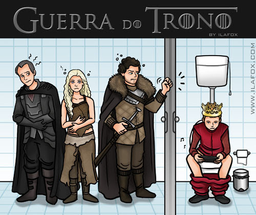 Guerra dos tronos, guerra do trono, game of thrones, privada, Stannis, Daenerys, Robb, Joffrey, toilet, by ila fox