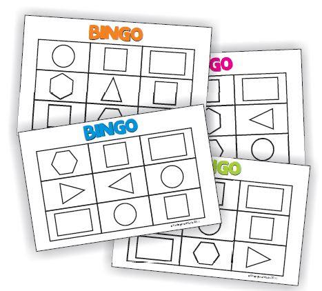 Describing 2D Shapes Bingo {Printable} | KindergartenWorks