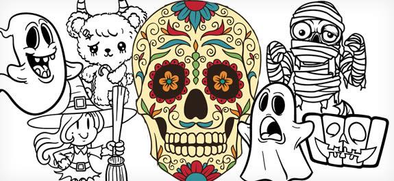 Los 10 Mejores Dibujos De Halloween Para Colorear Dibujos Net