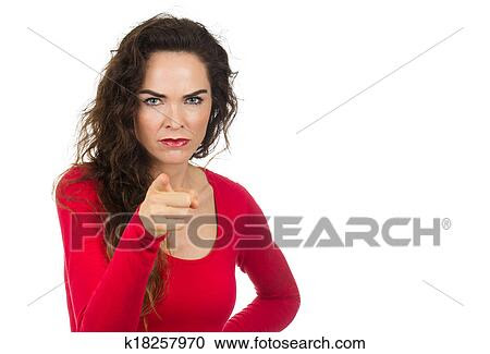 Arquivos de Fotografia - irritado, mulher zangada, apontar. Fotosearch - Busca de Fotos, Imagens, Murais de Parede e Clipart