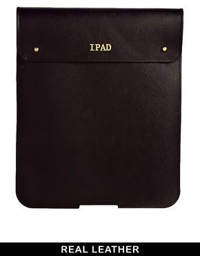 Image 1 ofASOS PREMIUM Leather iPad Case