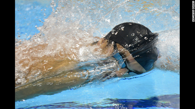 U.S. swimmer Michael Phelps competes in the men's 4x200-meter freestyle relay final. Phelps secured a record 19th Olympic medal when the U.S. team won gold in the event Tuesday.
