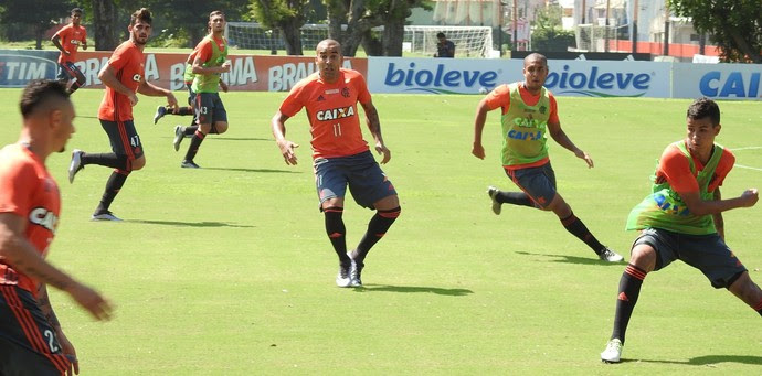 Emerson Sheik, Emerson, Sheik, Flamengo, Ninho (Foto: Fred Gomes/GloboEsporte.com)