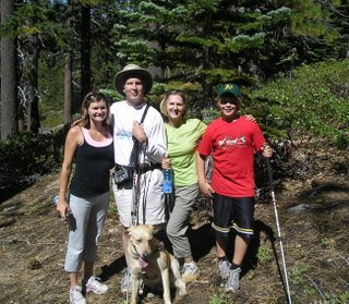 Jamie, Mike, Jennifer, Wyndham, and Miguel ready to hike
