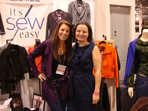 me with Angela Wolf in her booth