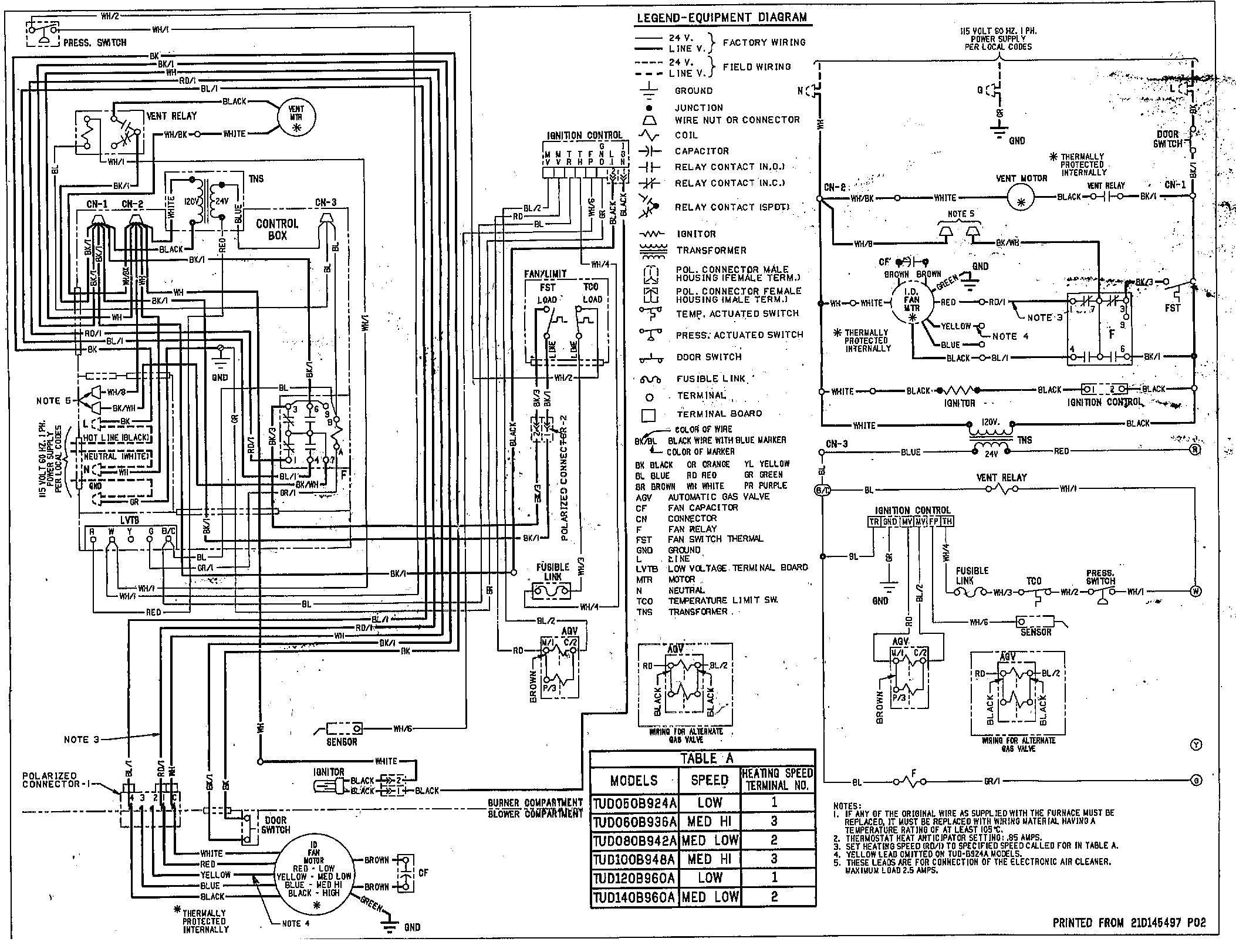 Trane Wiring Diagram Model