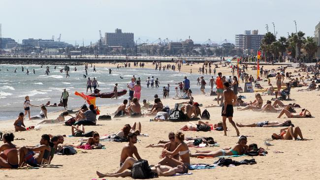 4. St Kilda beach is the fourth busiest coastal destination this Australia Day long weekend. Picture: News Corp Australia