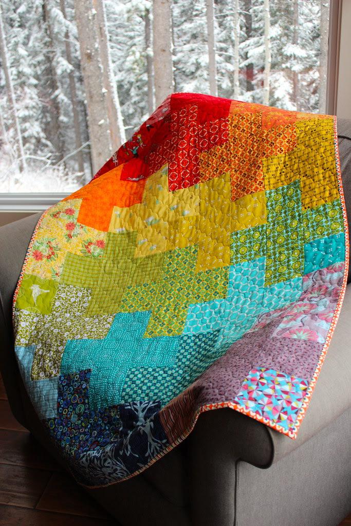 Rainbow Plus Baby Quilt
