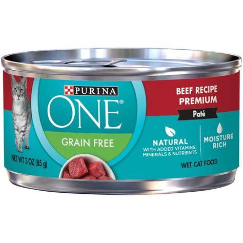 purina  grain  premium pate beef canned cat food