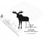 Moose Silhouette Yard Art Woodworking Pattern - fee plans from WoodworkersWorkshop® Online Store - moose,ungulates,animals,wildlife,african,yard art,painting wood crafts,scrollsawing patterns,drawings,plywood,plywoodworking plans,woodworkers projects,workshop blueprints