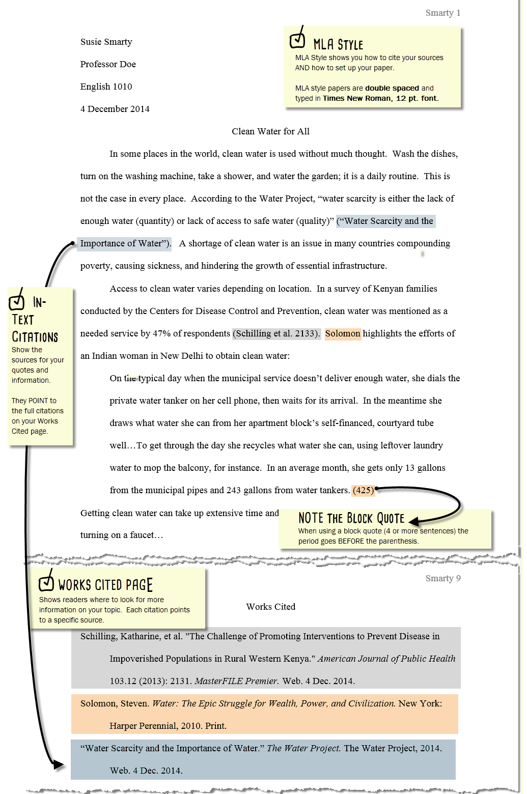 how to write numbers in essays mla