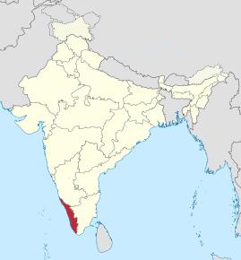 Kart over Kerala