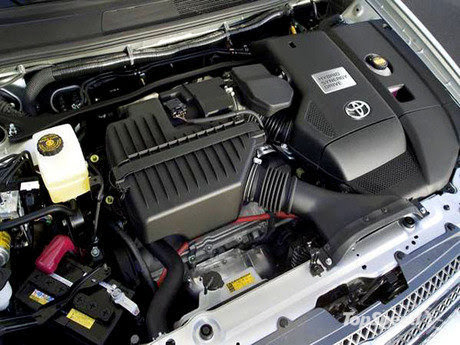 Power from the gas engine and front electric-drive motor (MG2) is