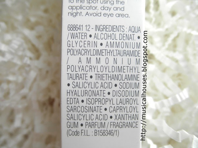 Vichy Normaderm Hylauspot ingredients