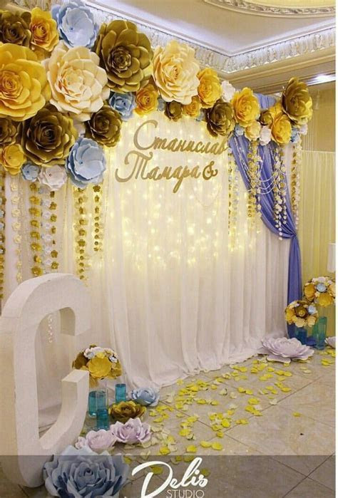 Paper flowers backdrop   Backdrop PAPER Flowers wedding