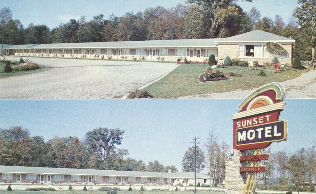 The cardboard america motel archive sunset motel tawas for Rose city motors michigan