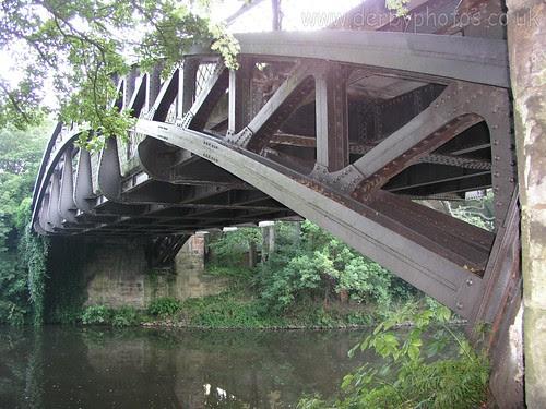 Handyside Bridge underneath view.