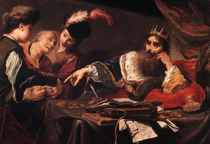 Creso rey de Lidia pintura