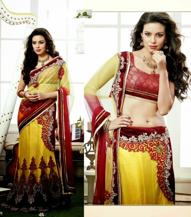 Bridal-Wedding-Rich-Heavy-Embroidered-Sarees-Designs-Lehanga-Style-Fancy-Sari-New-Fashion-3