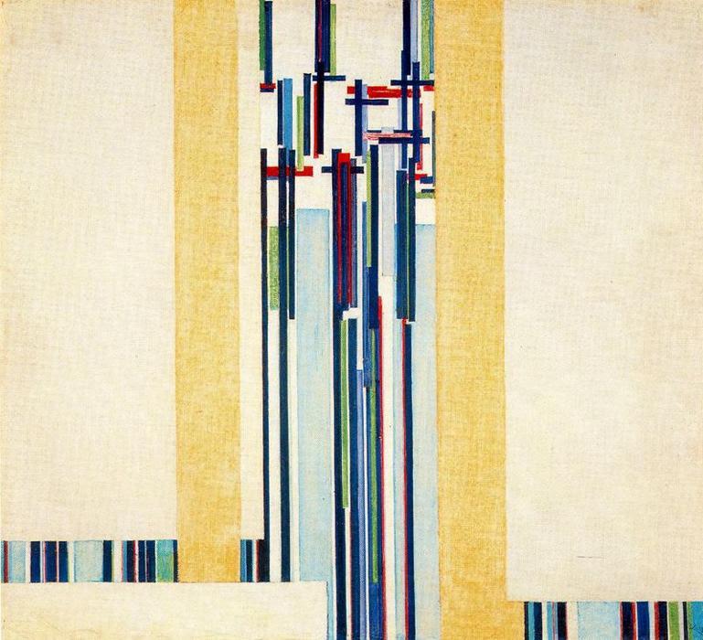 Elevación IV, serie C II de Frantisek Kupka (1871-1957, Czech Republic)