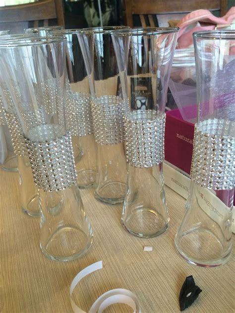 Dollar store vases jazzed up   centerpieces   Wedding