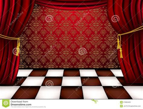 Royal Hall With Red Curtains Stock Photos   Image: 27860463