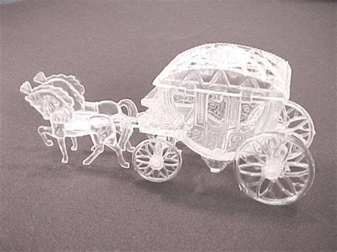 Clear Plastic Horse and Carriage