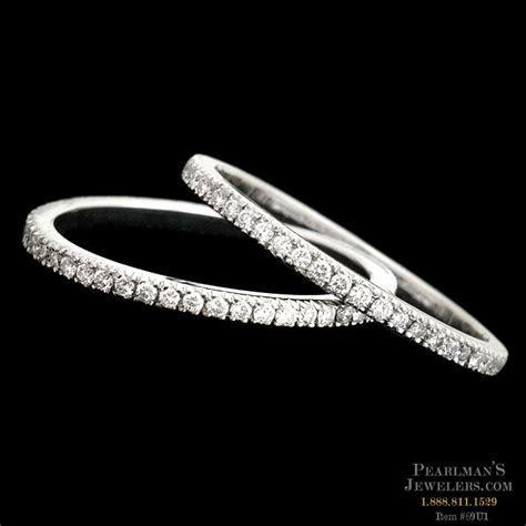 Scott Kay Platinum Pave Eternity Wedding Rings