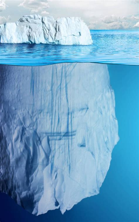 invisible part  iceberg  sea  pure