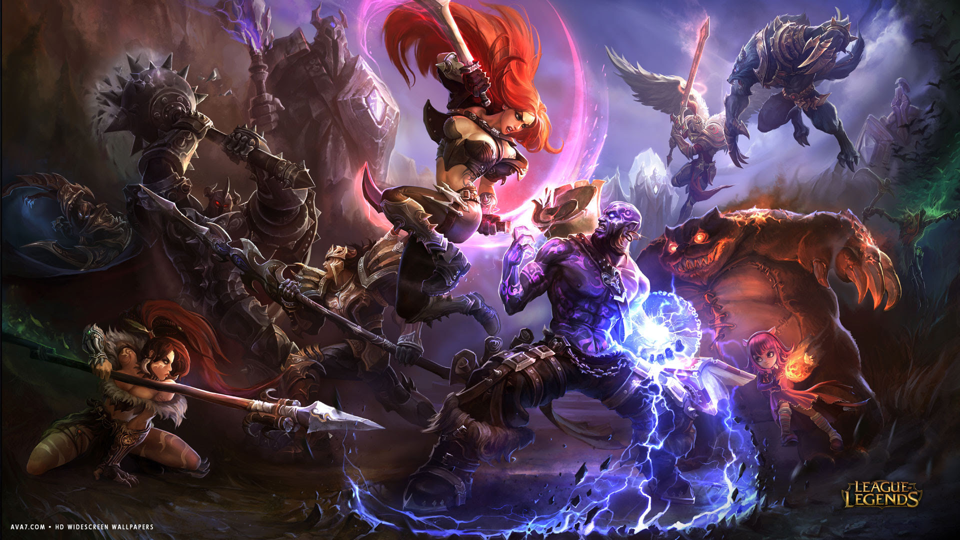 League Of Legends Game Lol Katarina Versus Ryze Magic Battle Hd