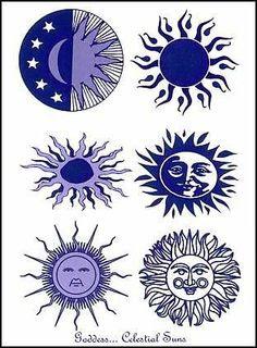 Sun moon tattoo ideas on Pinterest