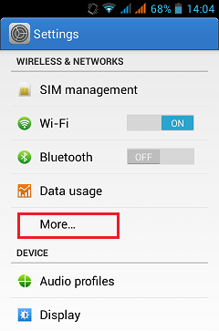 How to share internet connection from one android device to other device 1