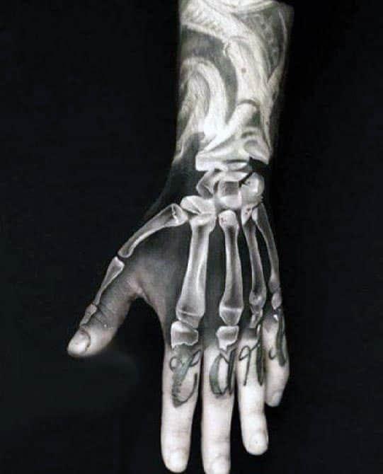 70 Bone Tattoo Designs For Men Skeletal Ink Ideas