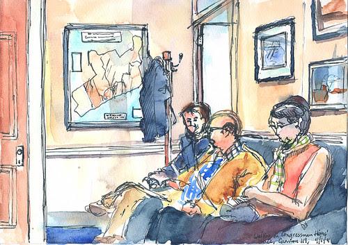 Waiting in Rep. Jim Himes' office, Washington, D.C.